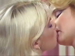 2 blonde lesbian on bed