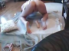Dildo Masturbation While Watching Porn