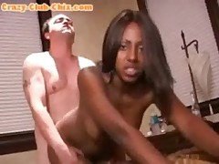 Ebony Fucks White And Facial