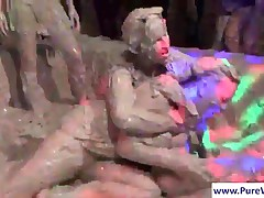 Good Looking Chicks Having Fun And Mud Wrestling