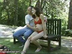 A Pair Of Wild Pregnant Girls In Lingerie Enjoy At Outdoor Orgy With Two Men
