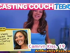 Camryn Kiss - Casting Couch Teens - Teen Camryn Kisses My Cock