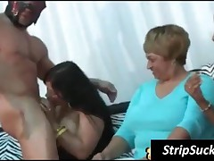 Masked Stripper Getting Cock Sucked By A Party Chick