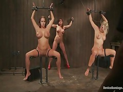 Christina Carter And Trina Michaels And Holly Heart - Device Bondage