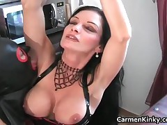 Juggs Carmen In Great Dirty Bondage Outfit Having Crazy With Some Guy 10 By CarmenKinky
