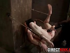 Real Bdsm Master Ties Her Pet Slave On Arms Legs And Tits And Gets Her Shaved Pussy Finger Fucked Ha