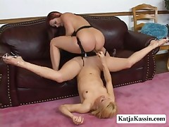 Katja Kassin And Katrina - Real Strap-On Pussy Partners