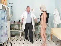 Karolina - Hot Blond Babe Vagina Examination And Enema