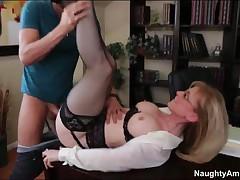 Nina Hartley Vs Xander Corvus - My First Sex Teacher - Xander Comes Into Professor Hayleys Class For