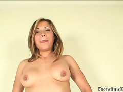 Sara May - Kinky Latina Babe Sara May Gets Pleasured With Stiff Meat Stick In All Holes
