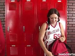 Gracie Glam - Cute Brunette Teen Getting Fucked Hard In The Locker Room