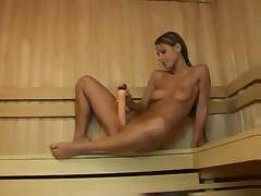 Blonde in Sauna Best Masturbation Scene Ever