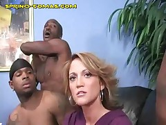 Spring Thomas - Spring Takes Double Cock At Once In Her Pussy