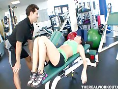 Melissa Lauren - Hot Chick Melissa Lauren Gets Her Pussy Licked Fingered And Fucked Hard In The Gym