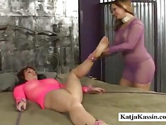 Katja Kassin And Kylie - Katja And Kylie In A Hot Lesbian Action
