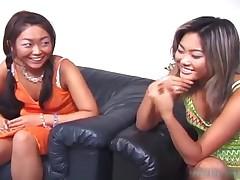 Cute Asian Lesbian Threesome Video 2 By AmazingJav