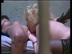 Two Lesbo Grannies Pumping In Jail