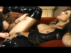 Shy Love - Shy Love Fucking In Thigh High Latex Boots And Sheer Lingerie