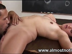 Ready Female Student With Tiny Titties And Hairy Kitty Is Banging