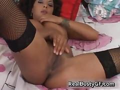 Busty Latin In Stockings Fingering Yummy Twat 3 By RealBustyGF