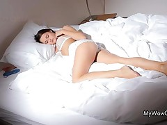 Beautiful Teen Brunette Loves Playing With Her Sexy Body By MyWowGirls