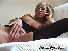 Big Boobs Gf Smoking On The Phone Caressing Her Nipples 3 By RealBustyGF