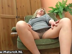 Blonde Mature Housewife With Big Natural Tits Loves Playing With Herself By MatureX