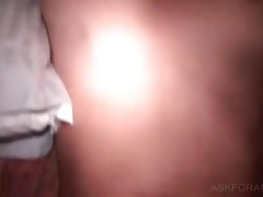 Smashing Blonde Tramp Fingering Her Wet Butt In Bed