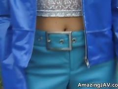 Cute Asian Teen Having Fun With A Vibrator Outdoor Video 1 By AmazingJav