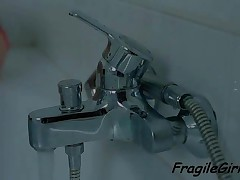 Gorgeous Teenage Cutie Masturbating Twat In Bathroom