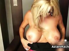Rachel Aziani - Rachel Aziani With Her Big Tits Showing Of Her Sexy Feet In Stocknigs By AzianiRache