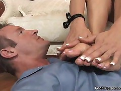 Audrey Bitoni - Footjob In Black Lingeries