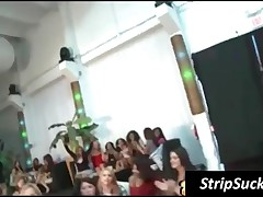 Excited Young Party Chicks Have Fun With Strippers Penis