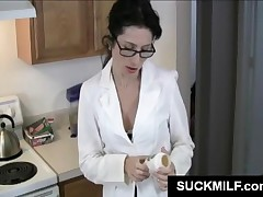 Mature Office Babe In Glasses Gives Fellatio