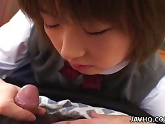 Shinobu Kasagi - This Hot Teen Babe Shinobu Kasagi Finds It Hard To Concentrate At School