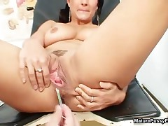 Sexy Mature Mom Gets Her Pussy Inspected By A Horny Doctor By MaturePussyExams