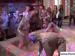 Hottie Girls Mud Wrestling And Sharing A Lucky Stud