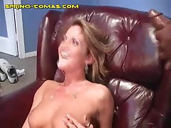 Spring Thomas - The Guys Dump Black Load On Her Mouth And Ass
