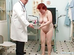 Tana - Ugly Redhead Woman Hairy Vagina Examination
