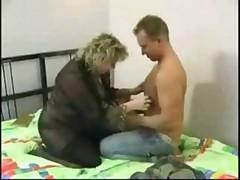 bbw blond granny anal