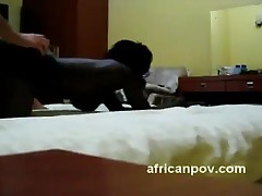 Jane - African Amateur Jane Gets Her Big Tits Cum Sprayed