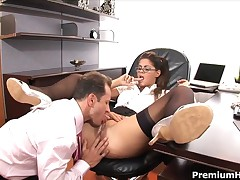 Valentina Rossini - Awesome Secretary Babe Valentina Rossini Dreamed To Get Nailed By Boss