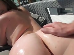 Sierra Miller - Huge Round Booty Brunette Girlfriend Tries Out Painful Anal Sex In Doggystyle For Th