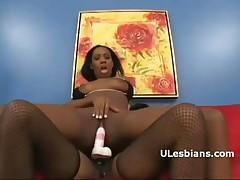 Mahlia Milian Vs Monica Foster - Black Slut Mahlia Rough Rides Ebony Lesbian Monicas Strap-on