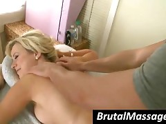 Syren Sexton - Tattooed Blonde Cutie Gets Massaged Well