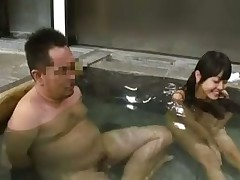 Young asian girl at the spa