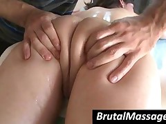 Raven Haired Babe Gets Sexy Body Massaged With Oil