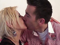 Dirty Mature Blonde Making Out With Hot Stud