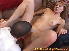 Elli Foxxx - XXX Proposal - Munching Ellis Rug While Boyfriend Watches