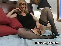Nina Hartley - Blonde Mom In Glasses Licking Stiff Boner 2 By RealBustyGF